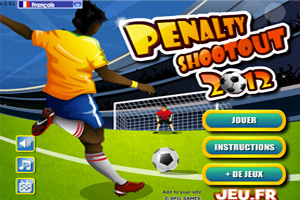 Jeu de foot penalty