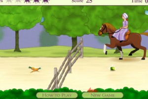 Jeu cheval grand galop