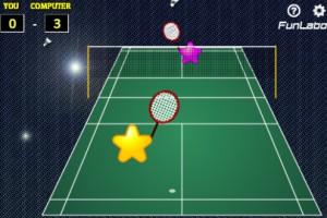 Jeu match badminton
