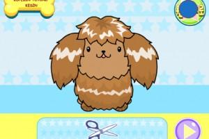 Jeu coiffure pour chien