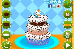 Jeu hello kitty gateau aux fruits