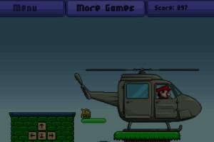 Jeu mario vole en hélicoptère