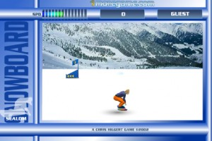 Jeu snowboard slalom
