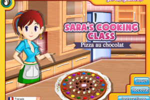 Jeu pizza au chocolat