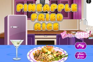 Jeu de cuisine : riz aux ananas