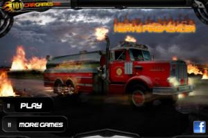 jeu de pilotage d'un camion de pompiers