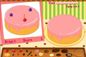 Jeu de décoratrice de gâteaux