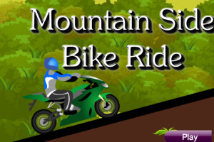 Jeu de moto mountain side bike ride