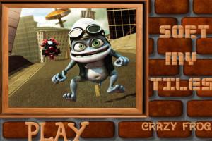 Jeu puzzle crazy frog