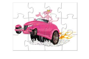 Jeu puzzle voiture de la panthere rose