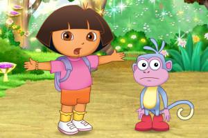 Jeu d'aventure avec Dora
