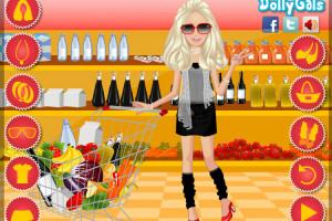Jeu de Barbie au supermarché