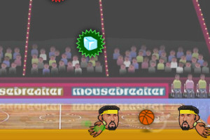 Jeu de basket tête