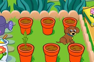 Jeu de Dora fait du jardinage