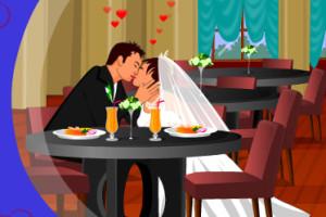 Jeu du bisou des mariés