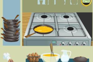 Prépare des omelettes