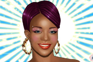 Jeu de maquillage de la chanteuse Rihanna