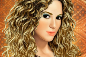 Jeu de maquillage de Shakira