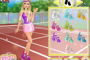 Jeu de Barbie championne de tennis
