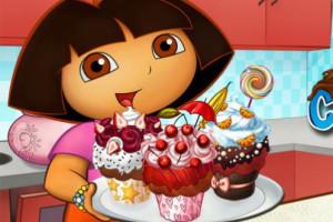 Jeu de Dora cupcakes