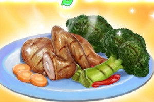 Jeu de recette équilibrée aux légumes